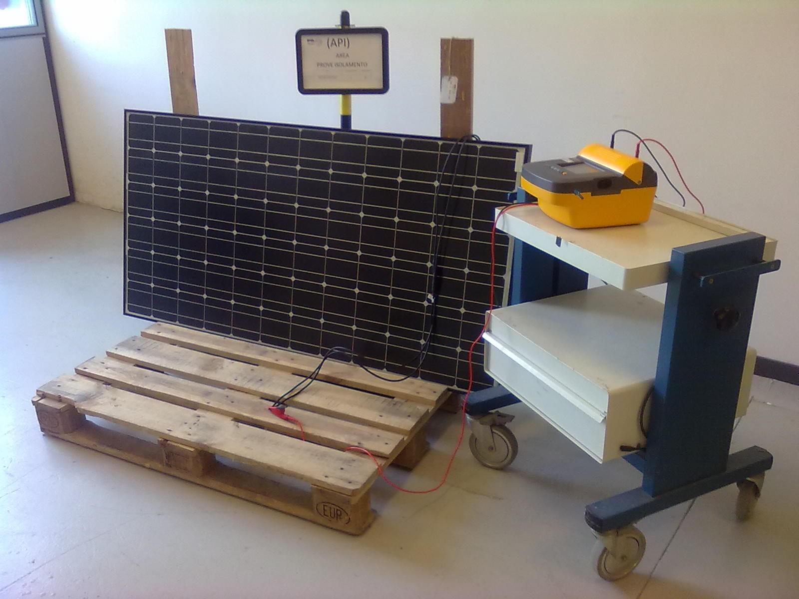 Prova Isolamento elettrico - CR Pvsmart Enea Portici