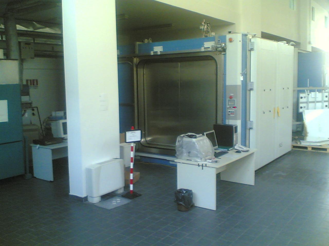 Camara climatica utilizzata per la prova. Pvsmart CR Enea Portici